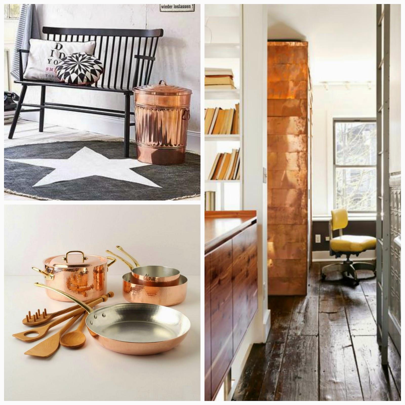 Tendencias: La invasión del cobre en la decoración