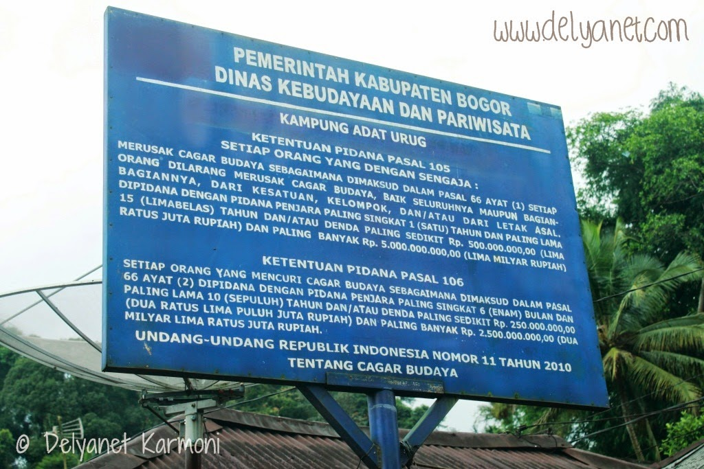 Disclaimer Kampung Urug