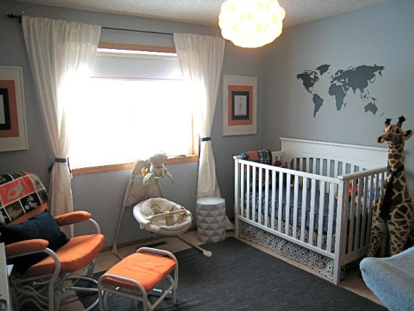 Mad For Mid Century A Modern Travel Themed Nursery