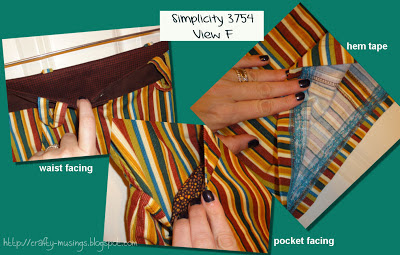 Simplicity 3754, details collage