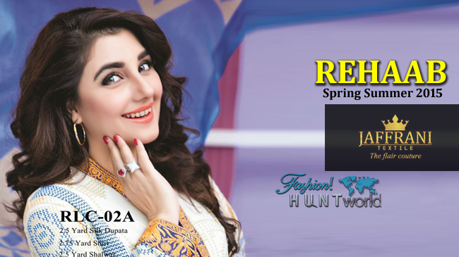 Rehaab Premium Lawn Collection 2015 By Jaffrani Textile