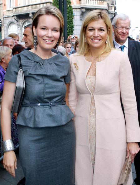 ROYAL COUTURE.....Princess Mathilde, future Queen Consort of Belgium ...