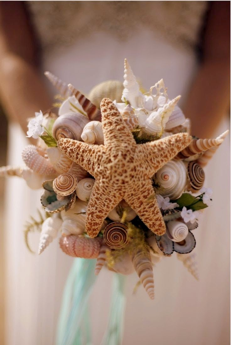 beach themed bouquet