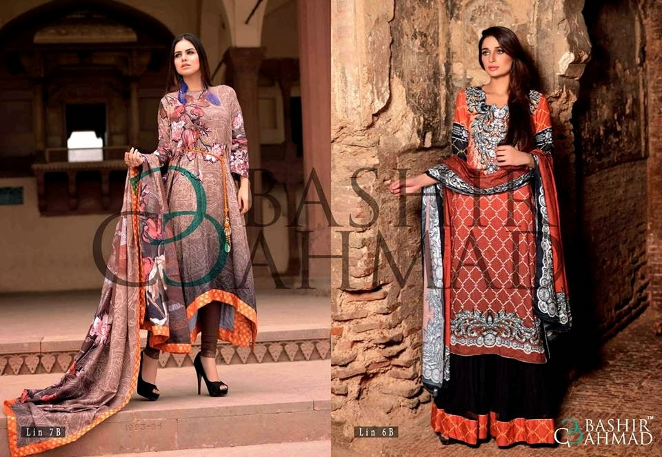 BashirAhmedLinen2013 14 wwwfashionhuntworldblogspotcom 003 - Bashir Ahmed Linen Dresses 2013 / 2014