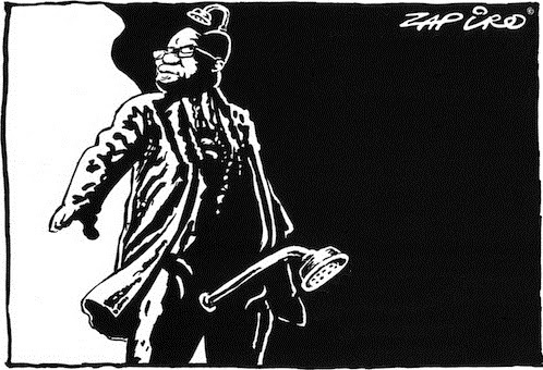 Zapiro: Jacob Zuma, The Showerhead.