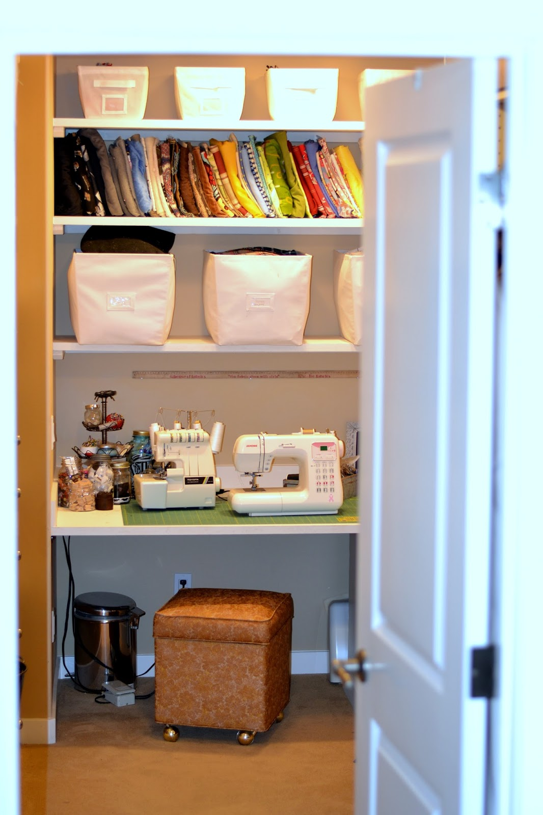 Craft Room {in My Closet} Home Tour