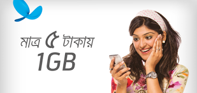 Grameenphone 1GB Data 5tk Inactive Internet Special Offer