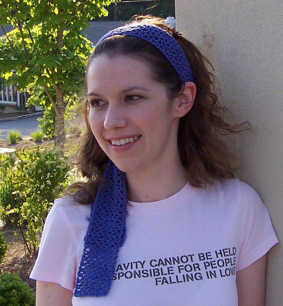 Travel headwear: Long open mesh headband for women - free crochet ...