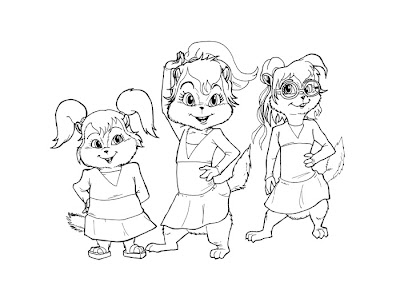 Alvin and the Chipettes Coloring Pages