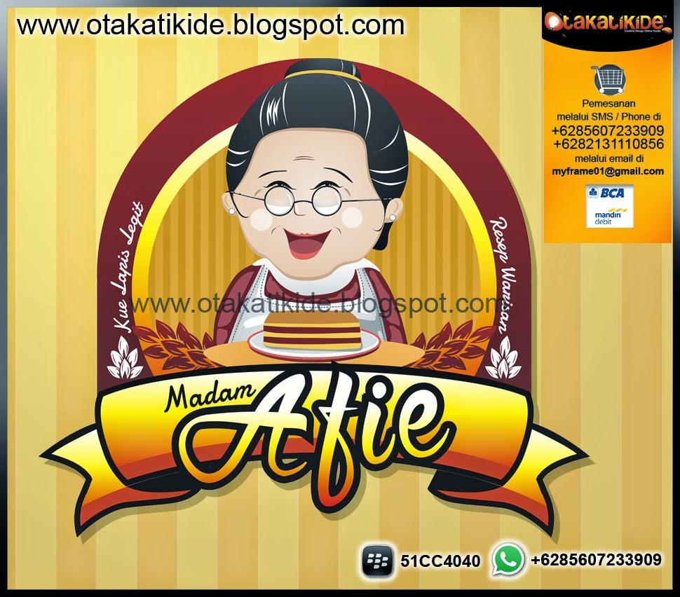 jasa desain logo mascot ukm label produk makanan kue lapis surabaya