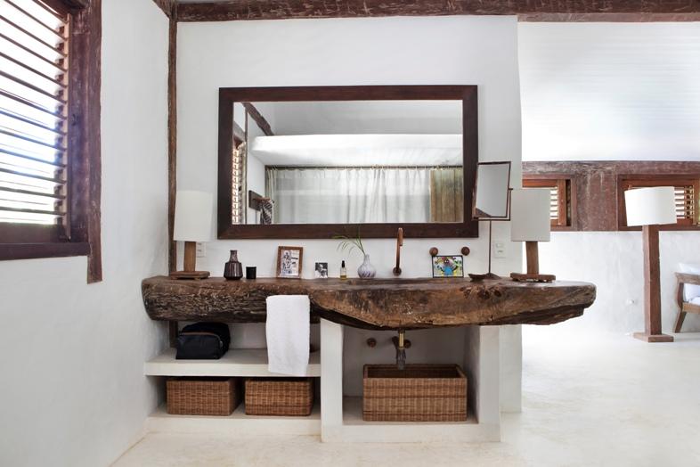 Muebles Para Baño Hechos En Casamueble de baño hecho con troncos