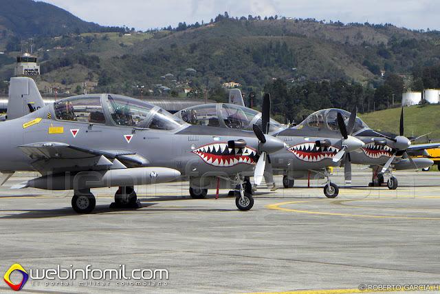El Comando Aéreo de Combate No 2 desplegó 19 hombres y 3 aviones de ataque A-29B Super Tucano al Ejercicio Internacional Ángel de los Andes.