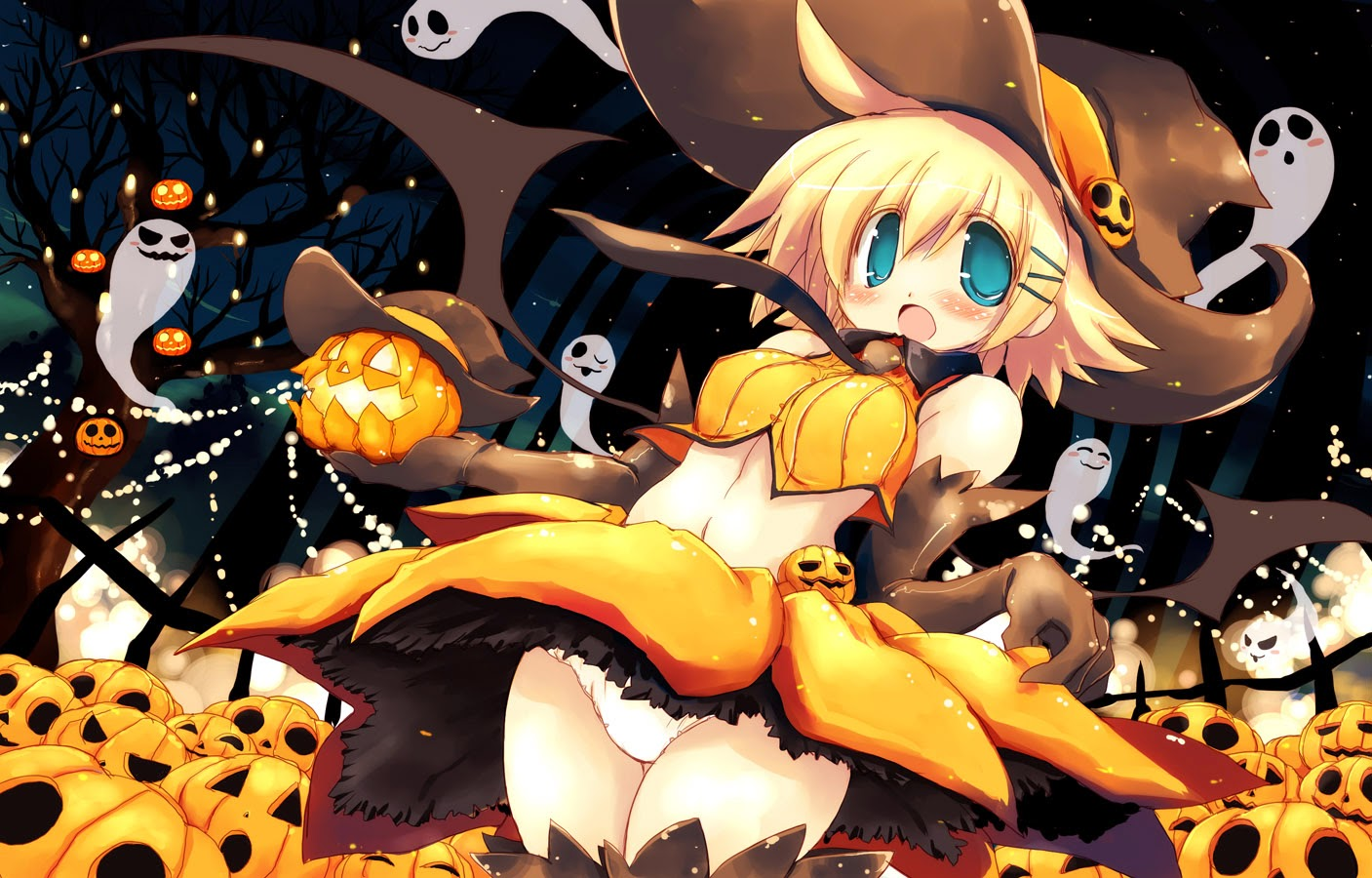 anime halloween girl wallpaper hd - natalia wallpapers