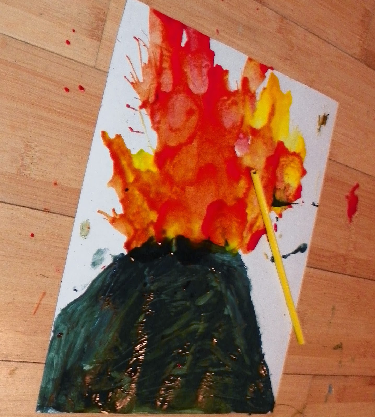 Volcano Orange Paint >> The Little Sewing Shop: Volcanoes and tectonics lapbook, unit study and playdate!