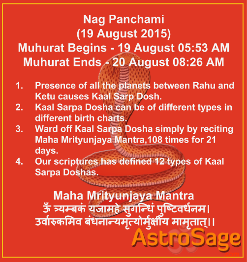 Know ways to curb Kaal Sarp Dosh and its types