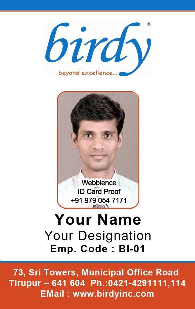 Template Galleries - Card template free: employee id card template