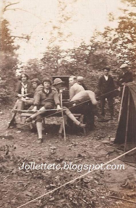 Violetta Davis camping trip about 1922-23  http://jollettetc.blogspot.com