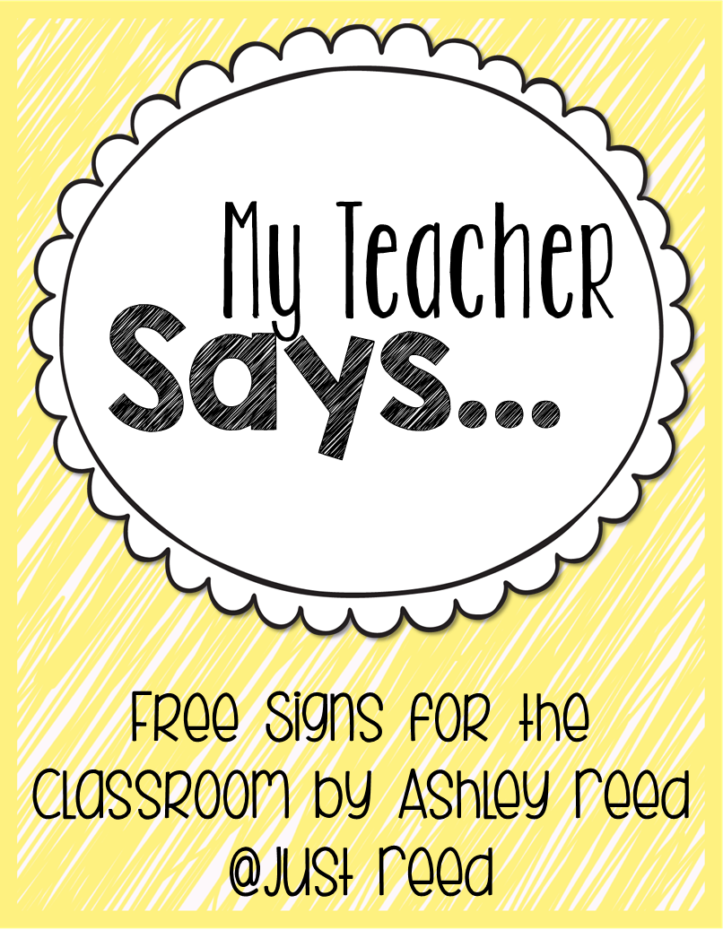 https://www.teacherspayteachers.com/Product/My-Teacher-Says-FREE-Classroom-Signs-1819978