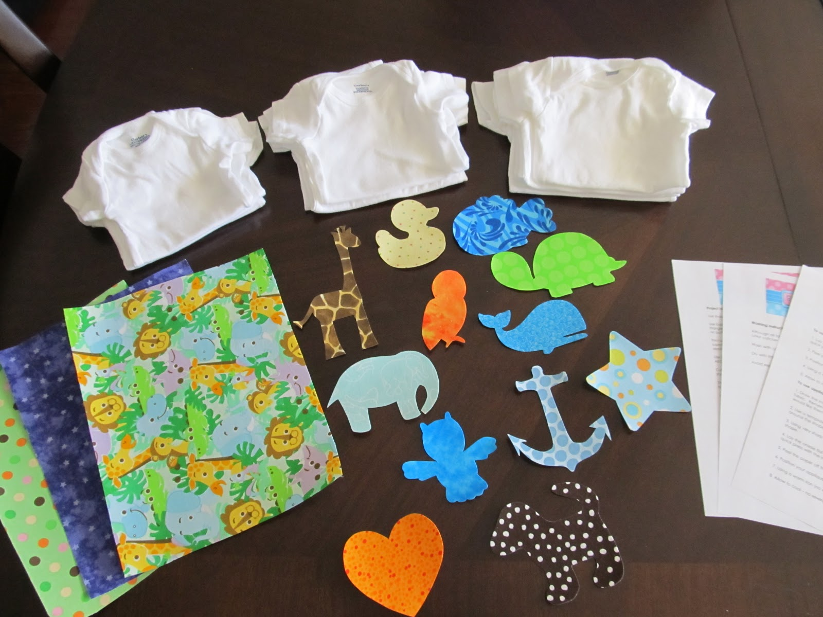 Binge Crafter: Baby Shower Craft - Onesie Making Kits with Iron-on