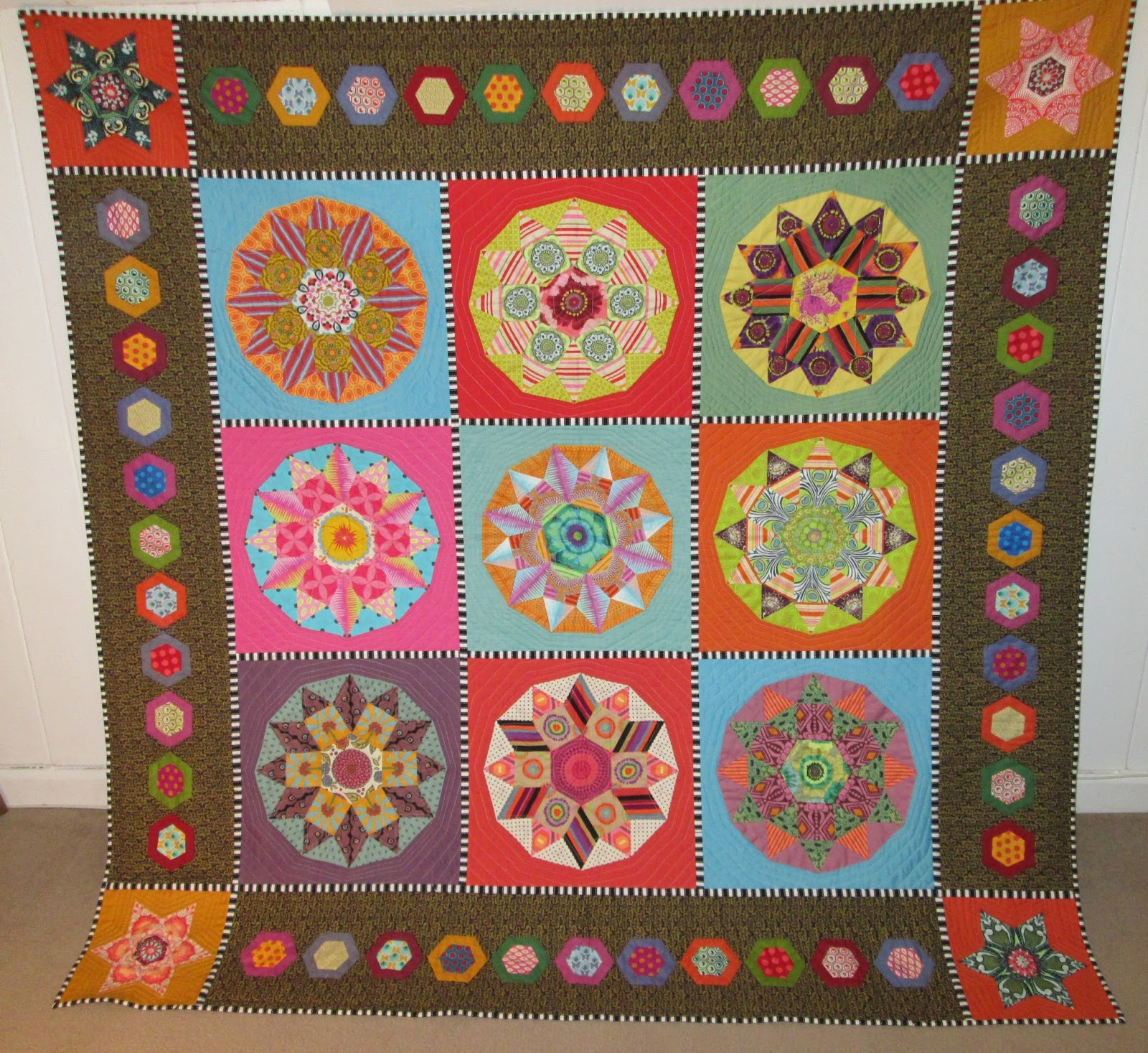Hand Quilting Border Designs : Jersey Quilter: Hand Quilting & a Finish