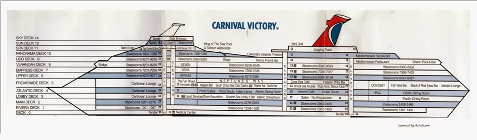 100 Carnival Conquest Deck Plan