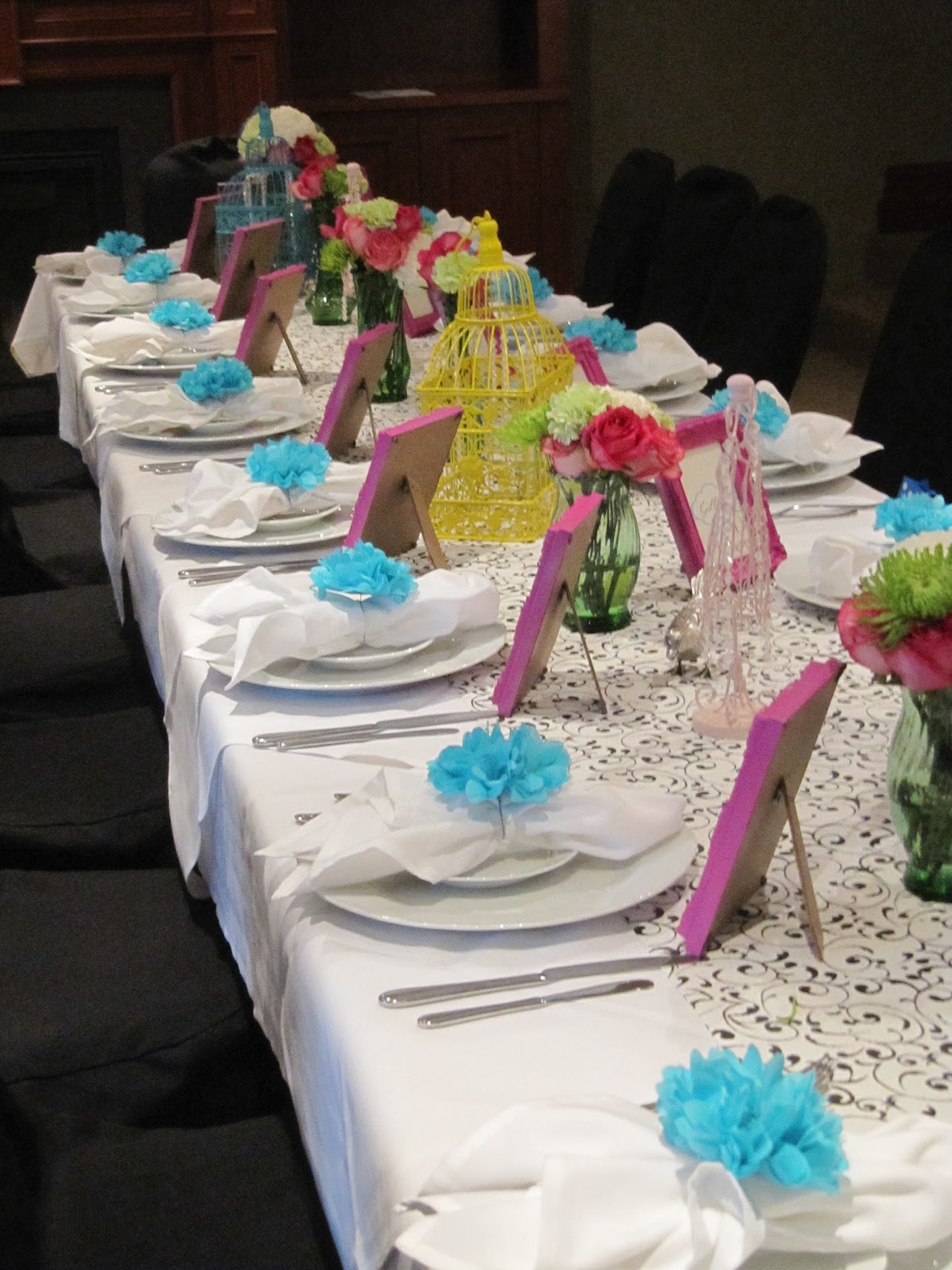 Ladies birthday table decorations image inspiration of Brunch table decorations