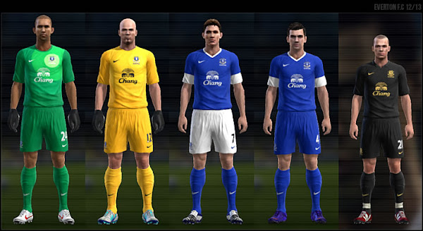 PES 2012 Everton FC 2012/13 Kits by Dark Nero