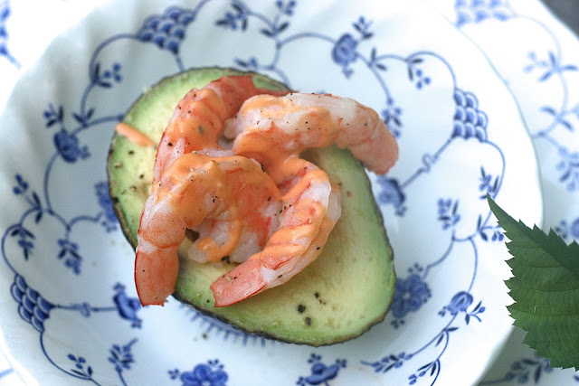 prawn avocado appetizer