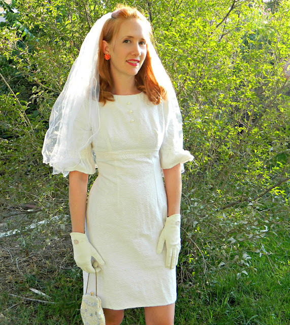 1960s wedding dress vintage Just Peachy, Darling