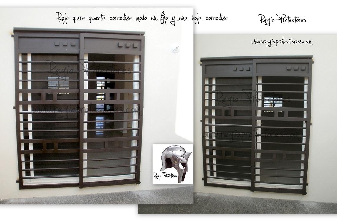 Regio protectores reja para puerta corrediza est ndar for Puertas para patios modelos