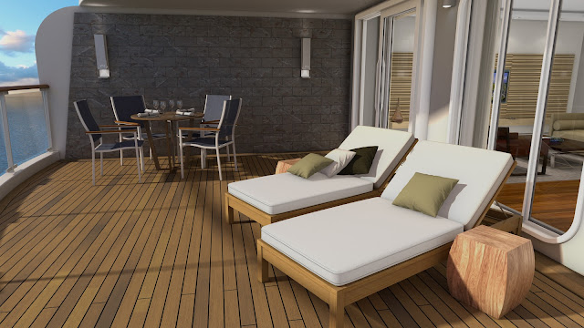 3 of 3: Verandas in the Explorer's Suites range from 167 to 490 sq. ft. Photo: © Viking Cruises. Unauthorized use is prohibited.