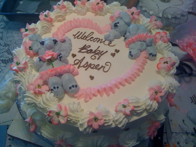 Wilton Baby Shower Cake Images : Frosted Art: Baby Elephant Baby Shower Cake