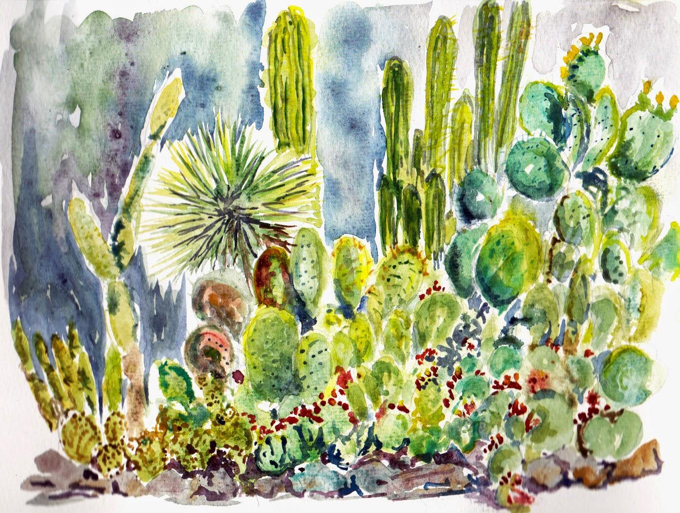 Bradu0027s Painting Of More Rioting Cacti
