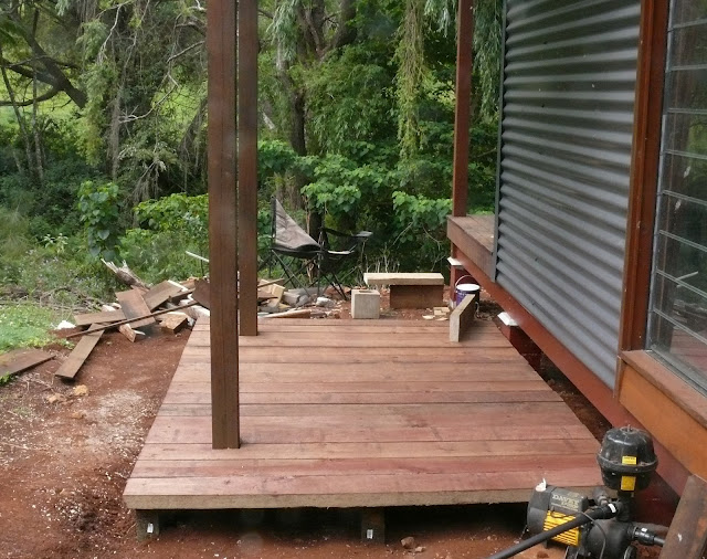 Prince of the paddock timber sleeper deck for Pre made timber decking