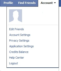 Profile Drop down Facebook