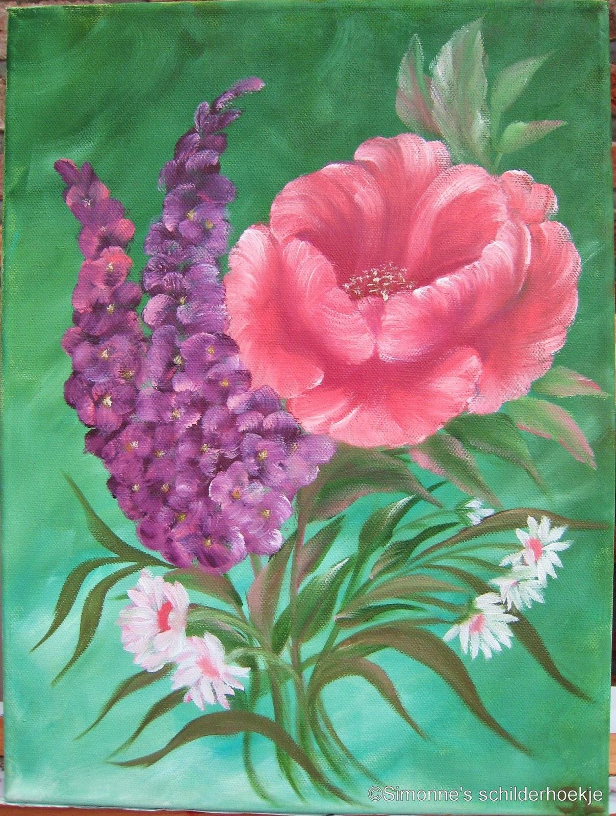Simonne 39 s schilderhoekje de nieuwe verf onmiddellijk eens uitproberen - Hoe te krijgen roze in verf ...