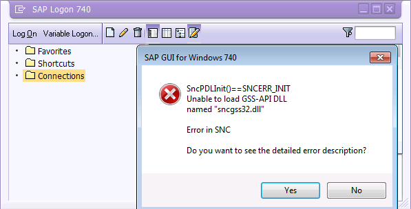 Issue with sequenced SAP GUI 7.40 \
