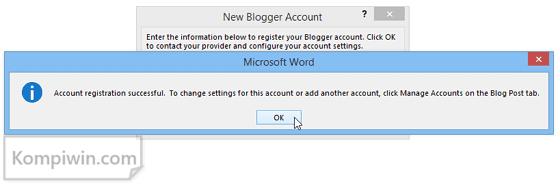 Blogger: Cara Menulis dan Menerbitkan Postingan Blog di Microsoft Word 7