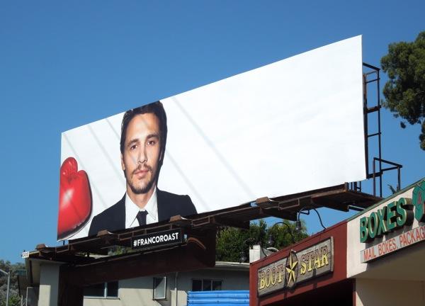 Franco Roast Comedy Central billboard Day 2