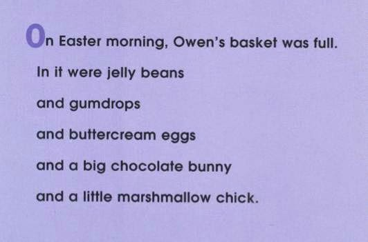sample page #1 OWEN'S MARSHMALLOW CHICK by Kevin Henkes