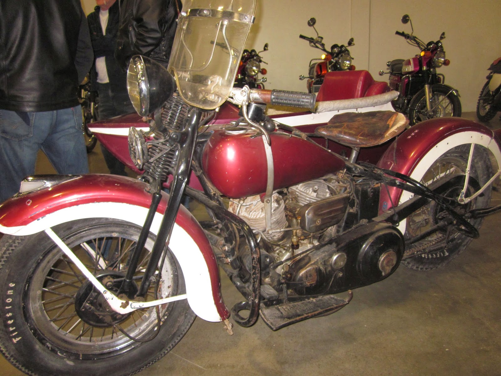Oldmotodude 1935 Harley Davidson 74 With Sidecar For Sale