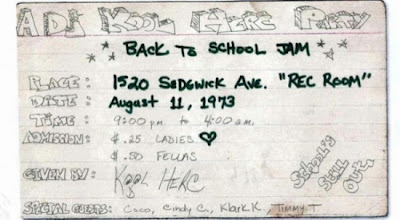 Kool Herc Party Flyer