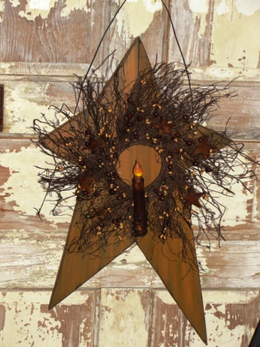 Handmade Primitive Christmas Wood Crafts