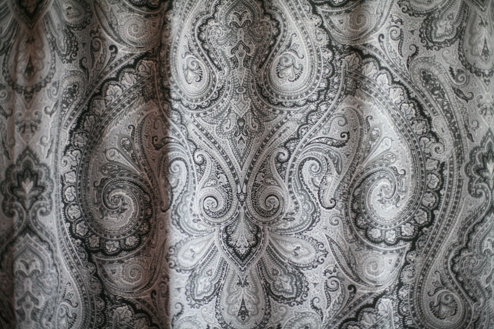 Ralph Lauren Blue Paisley Curtains