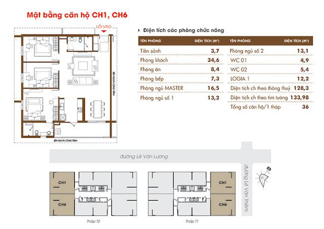 Căn 01 06 chung cư Time Tower - HACC1 Complex