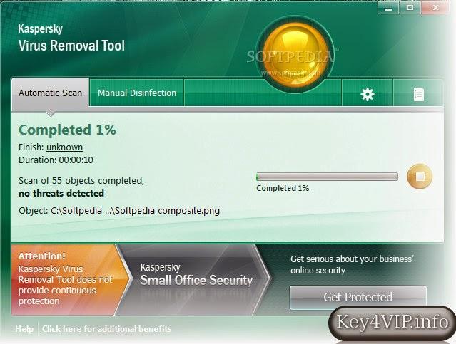 Kaspersky Virus Removal Tool 11.0.1.1245,Phần mềm miễn phí quét và gỡ bỏ virus của Kaspersky