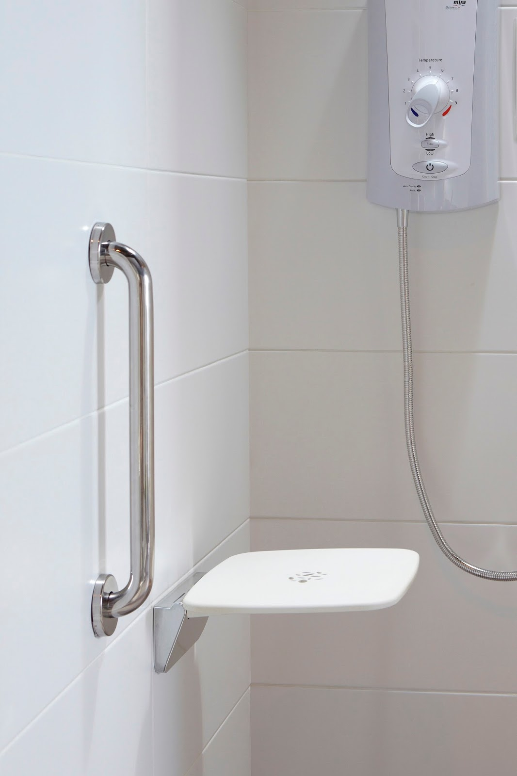 Mira showers press office for Grab bars in bathroom