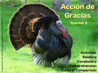 Acción de Gracias - Reading, Power Point, & Cultural Comparison by AnneK