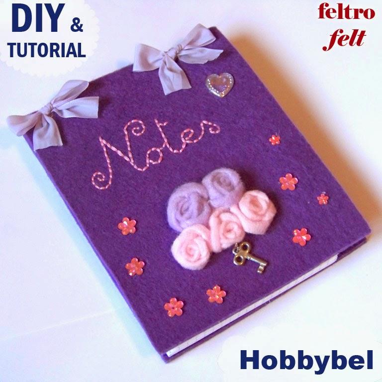 Piccola agenda in feltro per il block notes tutorial 1 - Tutorial fai da te ...