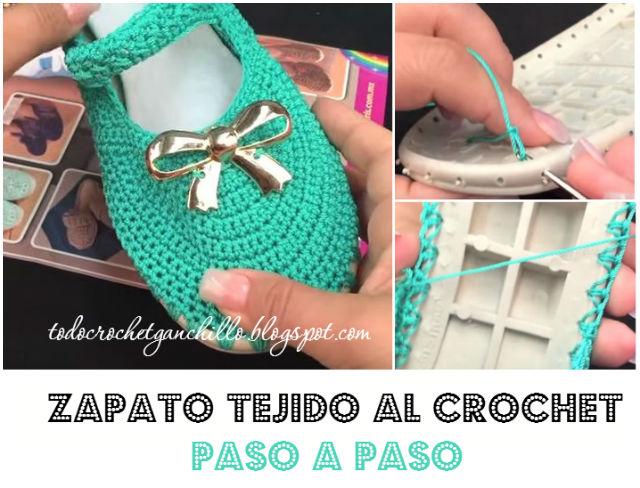 ... armar zapatos tejidos al crochet / Tutorial completo Todo crochet